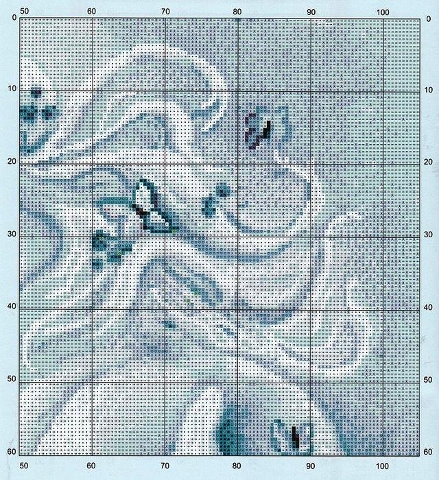 Вышивка крестом пара единорогов схема 79