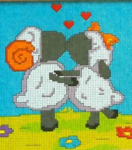 поцелуй овечек