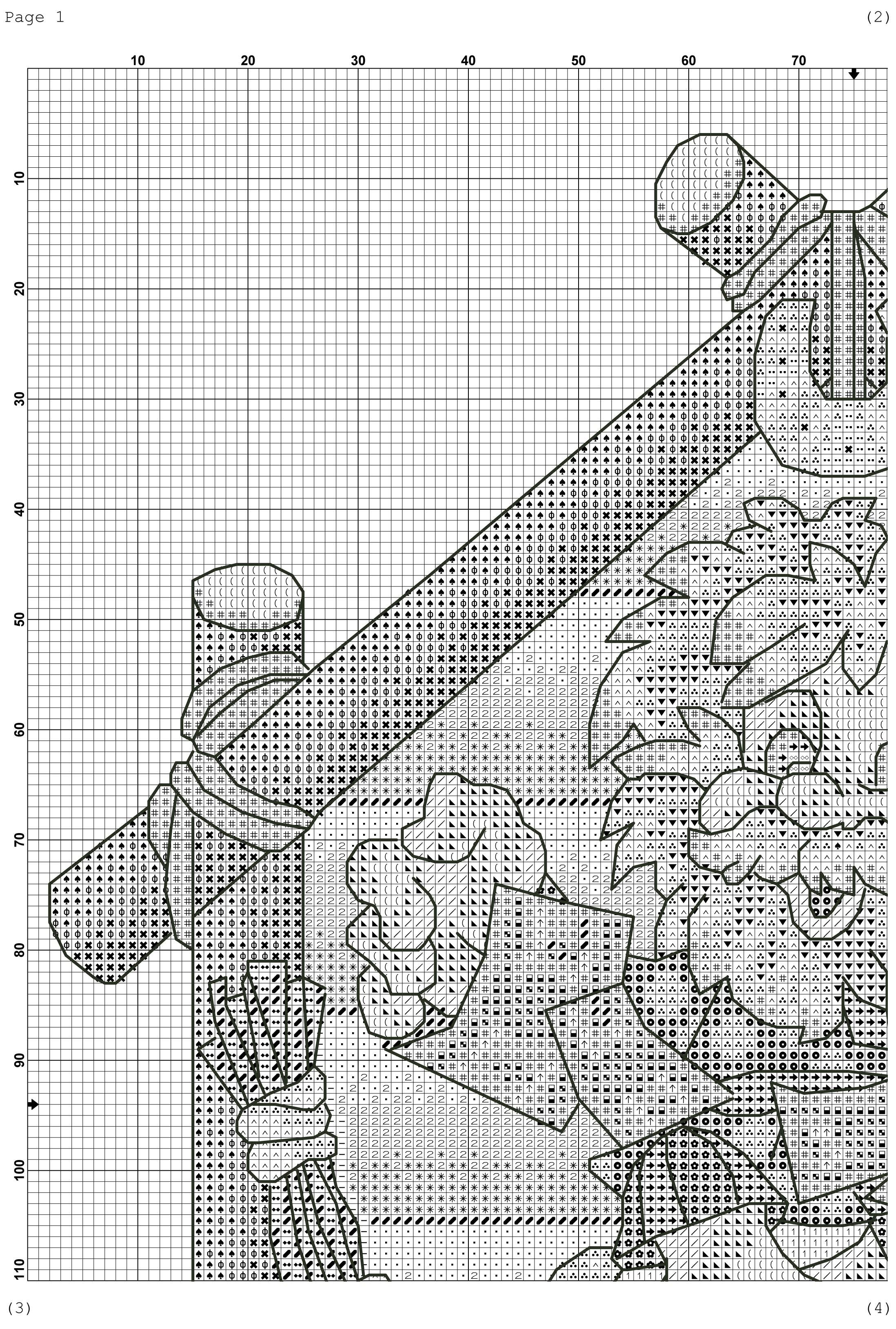 Схема вышивки крестиком обереги 74