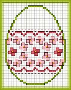 Картинки по запросу схемы вышивки крестом миниатюры пасха