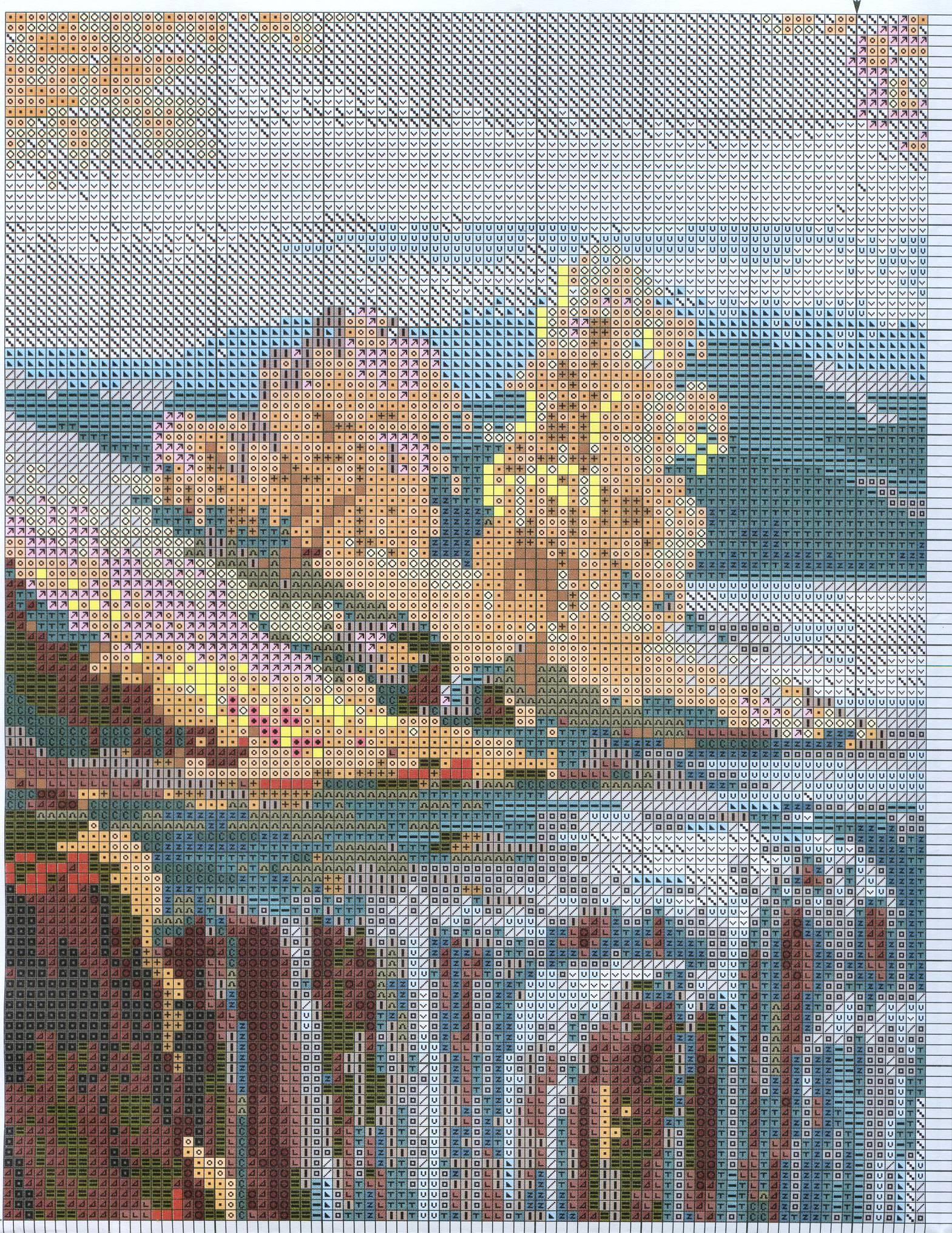 схема вышивки водопад 974 галина скабеева