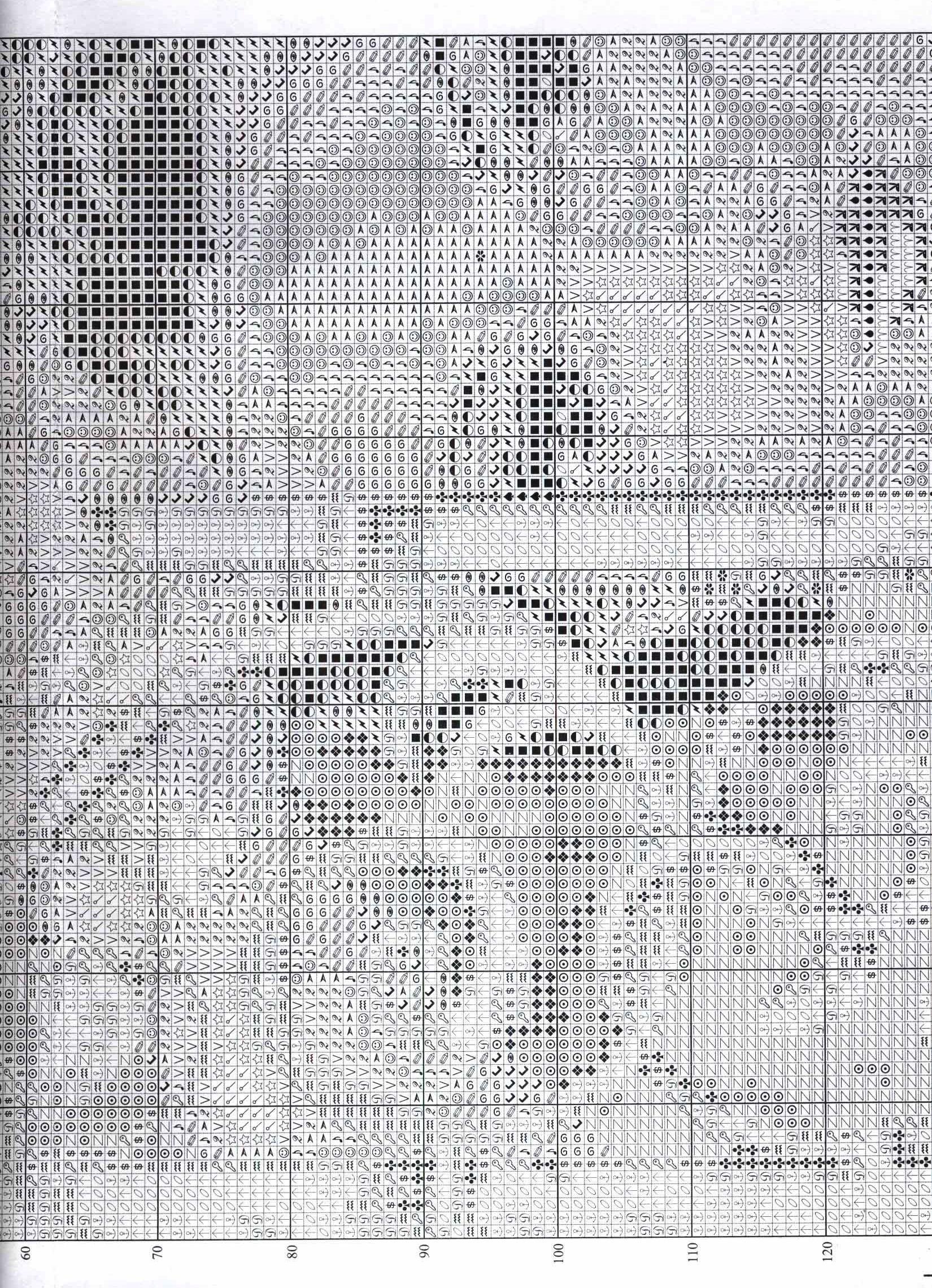 Схема вышивки крестом шакиры