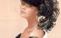 Дама в черной шляпе