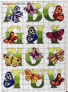 алфавит бабочка